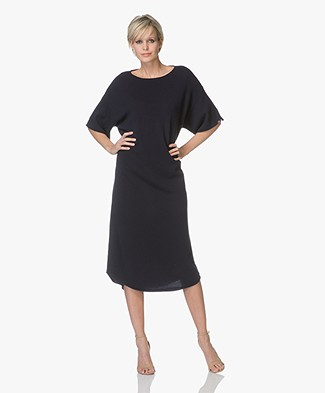 extreme cashmere n°44 Cashmere Teelong Dress - Navy