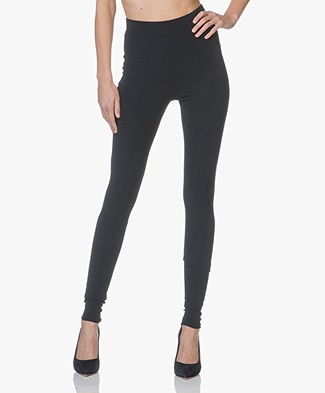 JapanTKY Haya Slim-fit Jersey Leggings - Blue Black