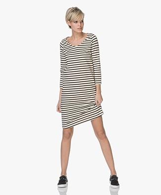 no man's land Knit Striped Dress - Core Black