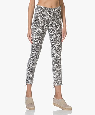 Current/Elliott The Super High Waist Stiletto Skinny Jeans - Snow Leopard