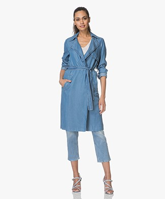 Indi & Cold Chambray Trench Coat - Tejano