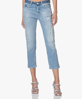 Zadig & Voltaire Elios Destroy Cropped Jeans - Blue