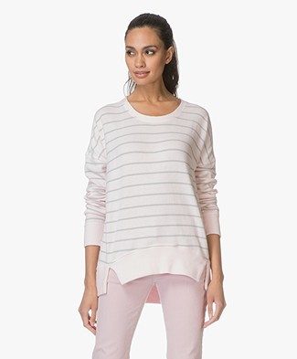 Denham Captain Striped Fleece Sweater - Pink