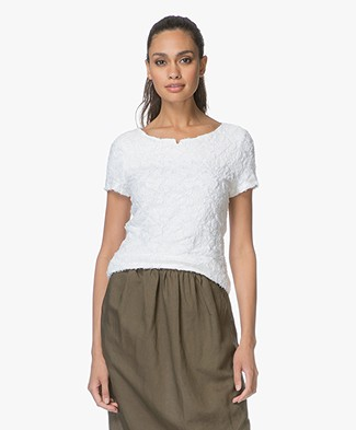 Josephine & Co Laureen Ausbrenner T-shirt - Wit