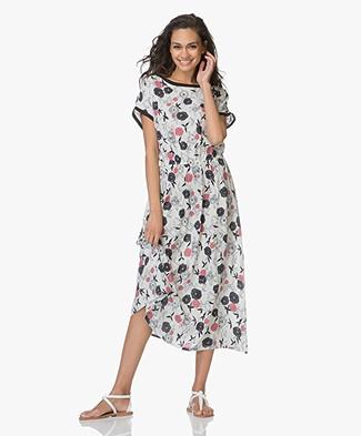 LEÏ 1984 Rosanna Midi-jurk met Print - Estampes