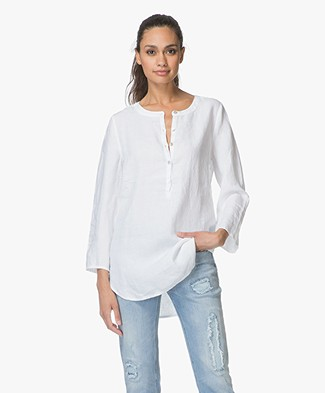 no man's land Linen Tunic - White