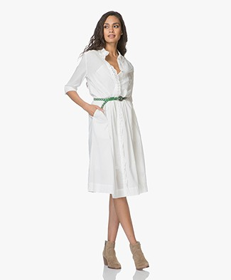Zadig & Voltaire Roof Voile Shirt Dress - White
