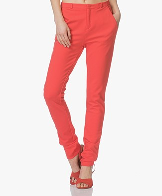 BY-BAR Nele Broek in Ponte di Roma Jersey - Rood