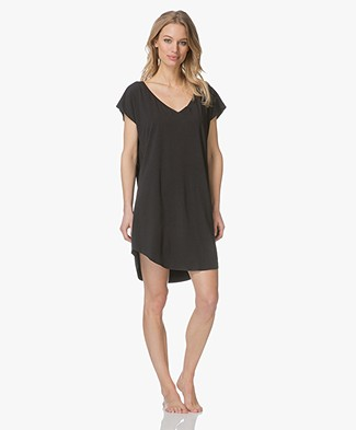 Calvin Klein Jersey Night Shirt - Black