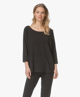 Calvin Klein Jersey Pyjamahemd - Zwart