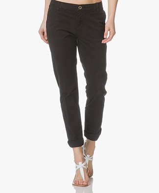MKT Studio The Sunset Flimsy Cotton Chinos - Black