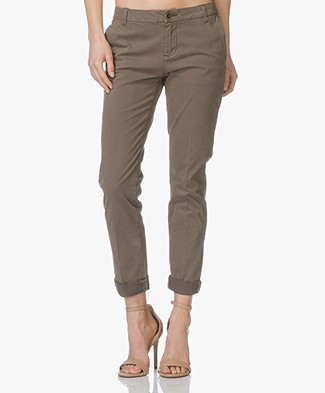 MKT Studio The Sunset Flimsy Cotton Chinos - Khaki