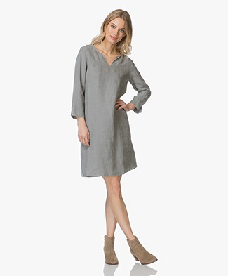 Belluna Caren Linen Dress - Khaki