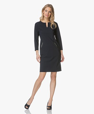 Belluna Tess Travel Jersey Dress - Navy
