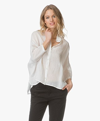 BY-BAR Norel Linnen Voile Blouse - Off-white