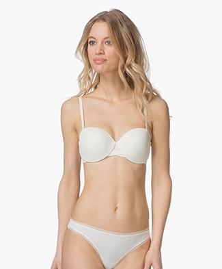 Calvin Klein Sculpted Lightly Lined Strapless BH - Ivoor