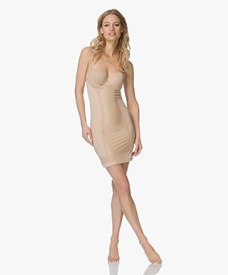 Calvin Klein Shaping Slip Dress with Mesh - Bare