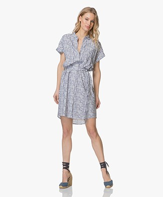 Marie Sixtine Diddie Printed Viscose Shirt Dress - Stick