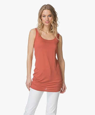 no man's land Long Jersey Tank Top - Tuscan Red
