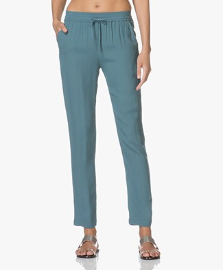 BY-BAR Jolie Crepe Viscose Pants - Oil Blue