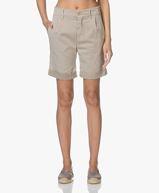 Drykorn Train Lyocell Blend Shorts - Beige