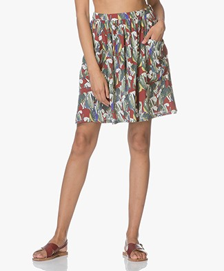 LEÏ 1984 Vanina A-line Skirt with Print - Panthere