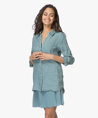 Belluna Fresh Linen Blouse - Jade