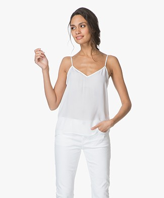 Equipment Layla Zijden Camisole - Bright White