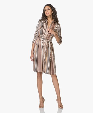 LaSalle Viscose Striped Shirt Dress - Stripe