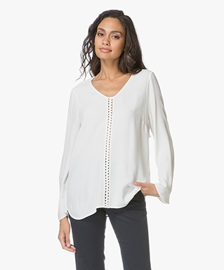 no man's land Crepe Blouse - Jasmin