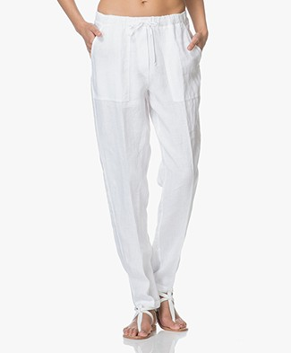 no man's land Linen Pants - White