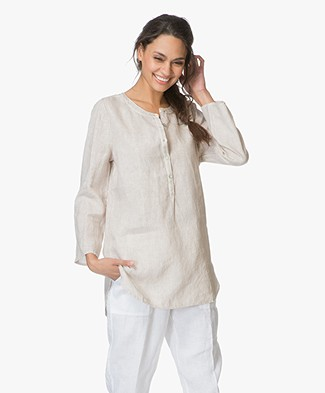 no man's land Linen Tunic - Sandstone