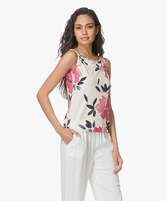 no man's land Jersey Floral Print Top - Jasmin