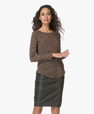 Ragdoll LA Raglan Long Sleeve T-shirt - Brown Leopard