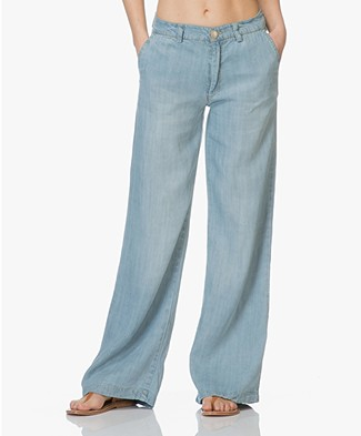 BY-BAR Nomi Chambray Pants - Light Denim