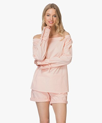 BOSS Emoina Off-shoulder Blouse - Pastel Roze