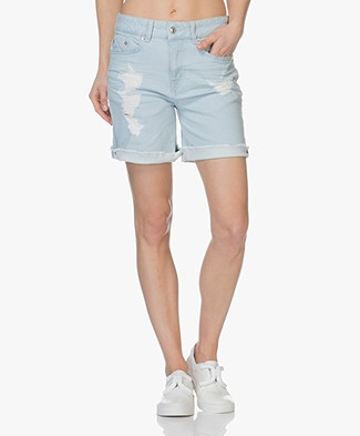 Drykorn Bumble Denim Short - Lichtblauw