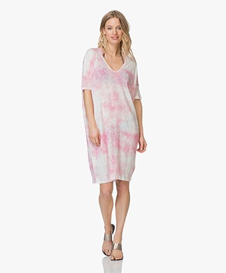 Majestic Oversized Linen Dress - Tie and Dye Azalé
