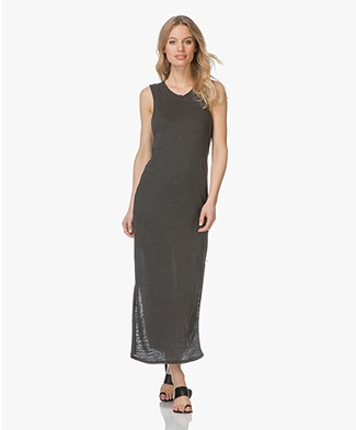 Friday's Project Long Linen Dress - Wash Black