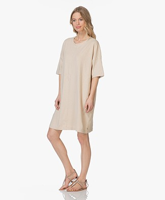 Friday's Project Oversized Linnen T-shirt Jurk - Beige