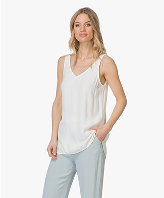 no man's land V-neck Crepe Top - Jasmin