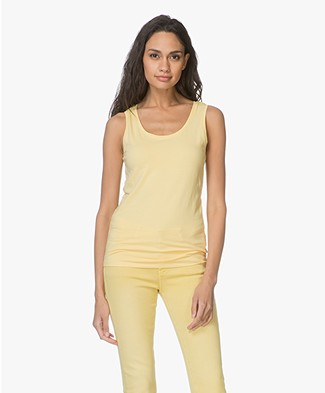 Repeat Cashmere Cotton Tank Top - Yellow