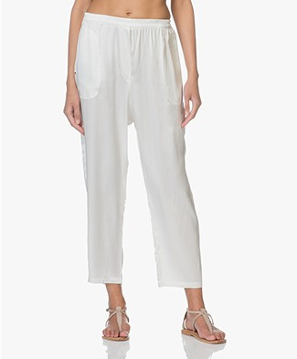 extreme cashmere N°48 Pygama Pants in Silk - Off-white
