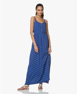 indi & cold Maxi Printed Dress - Azul Klein