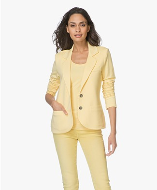 Repeat Tailored Jersey Blazer - Yellow
