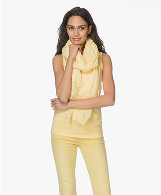 Repeat Cotton Pigment-Dye Scarf - Yellow