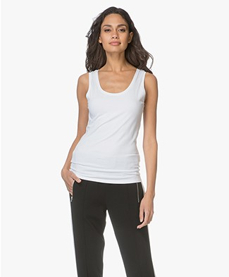 Repeat Cashmere Cotton Tank Top - White