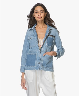 Zadig & Voltaire Kick Destroy Denim Jacket - Blue