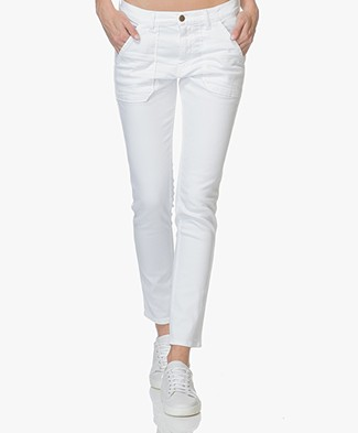 ba&sh Sally Girlfriend Jeans - White