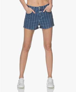 Closed Leni Denim Shorts - Striped Laser